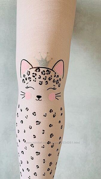 Капроновые колготы с кошкой