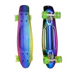 Скейт Пенни борд Penny board пениборд ПУ колеса-светятящиеся