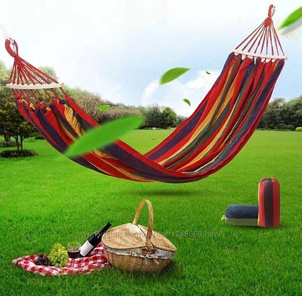 Гамак подвесной с деревянными планками, мексиканский гамак 80100х200, лен