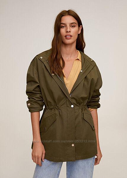 Куртка парка Mango 36 S хаки