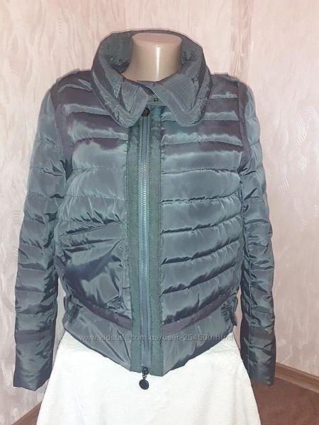 Модная укороченная деми еврозима куртка Moncler. Разм. М.