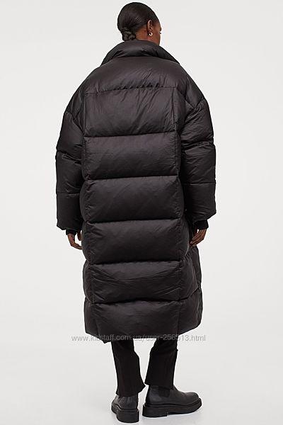 Пуховое пальто H&M, размер  L, оверсайз