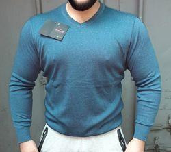 Мужской шерстяной свитер, трикотажный,  70 шерсть, пр-ль Турция, качество