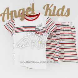 Летняя пижамка для мальчика на рост 110-116, Фламинго