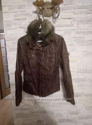 Натуральная кожа куртка s. oliver