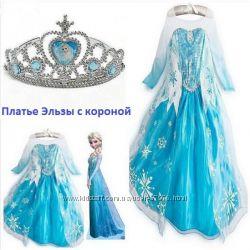 Карнавальный Костюм Эльзы Vogue платье с короной