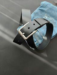 Мужской джинсовый кожаный ремень