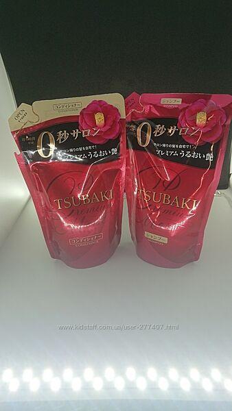 Tsubaki Premium Moist Увлажняющий Шампунь и Кондиционер -по 330мл refill