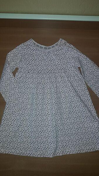Нежное котоновое платье для малышки F&F